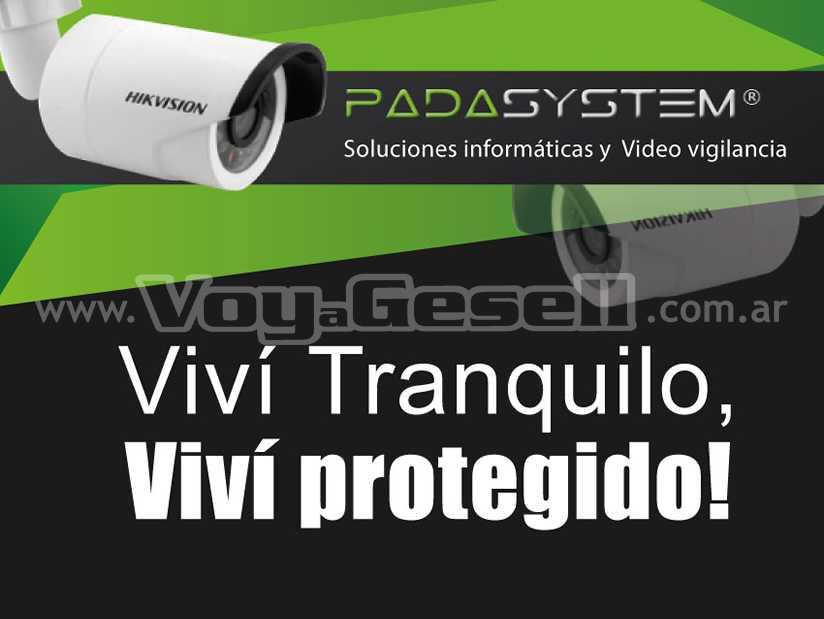 PADASYSTEM Soluciones informaticas: Instalacion de Camaras  y Redes   en Villa Gesell.
