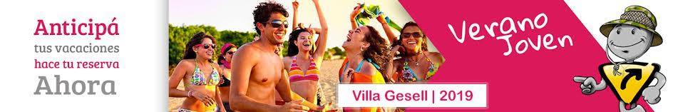 Preventa ENERO 2019 para Jóvenes - Villa Gesell